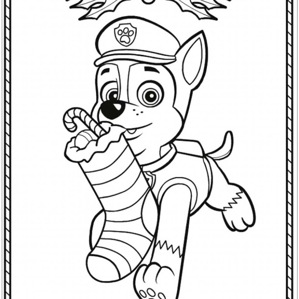 Christmas Coloring Pages Paw Patrol With Newwallpaperjdi Co