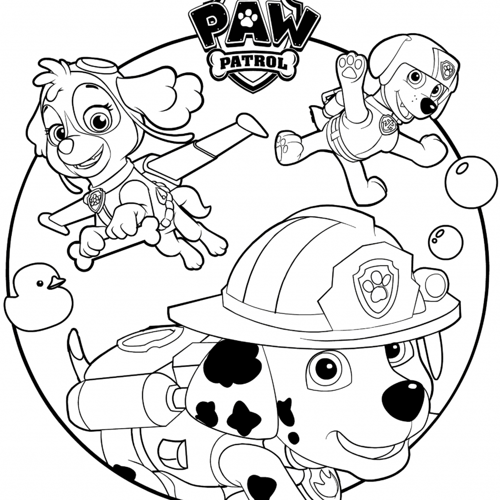 Christmas Coloring Pages Paw Patrol With PAW Free