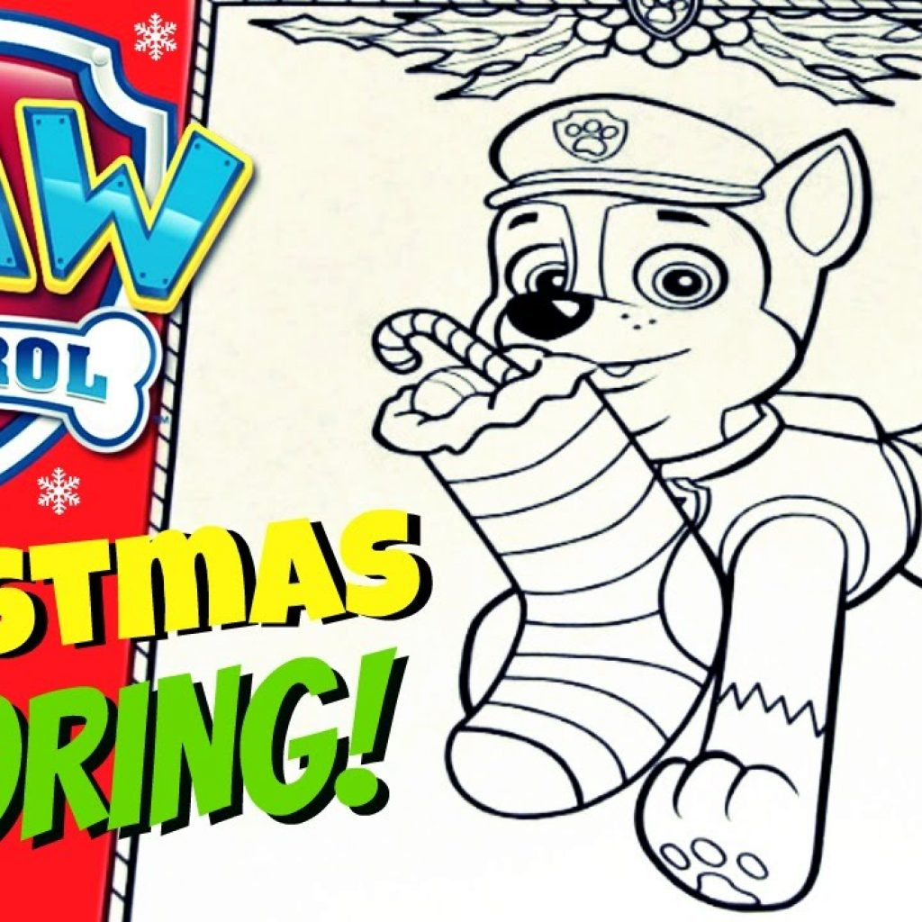 Christmas Coloring Pages Paw Patrol With PAW PATROL CHASE