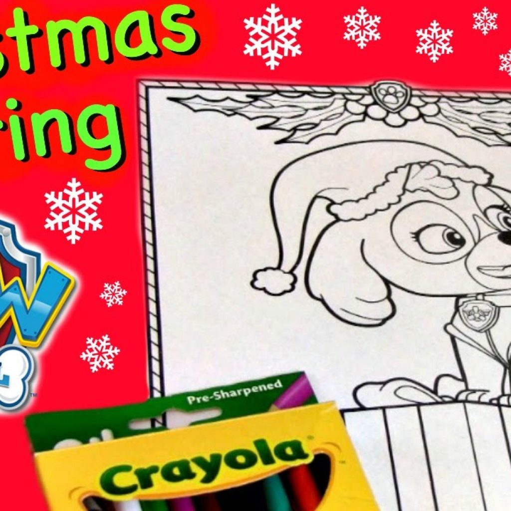 Christmas Coloring Pages Paw Patrol With PAW PATROL Skye