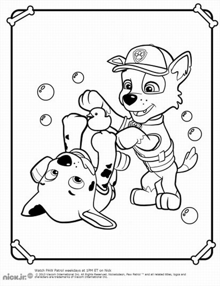 Christmas Coloring Pages Paw Patrol With Print Now Pinterest
