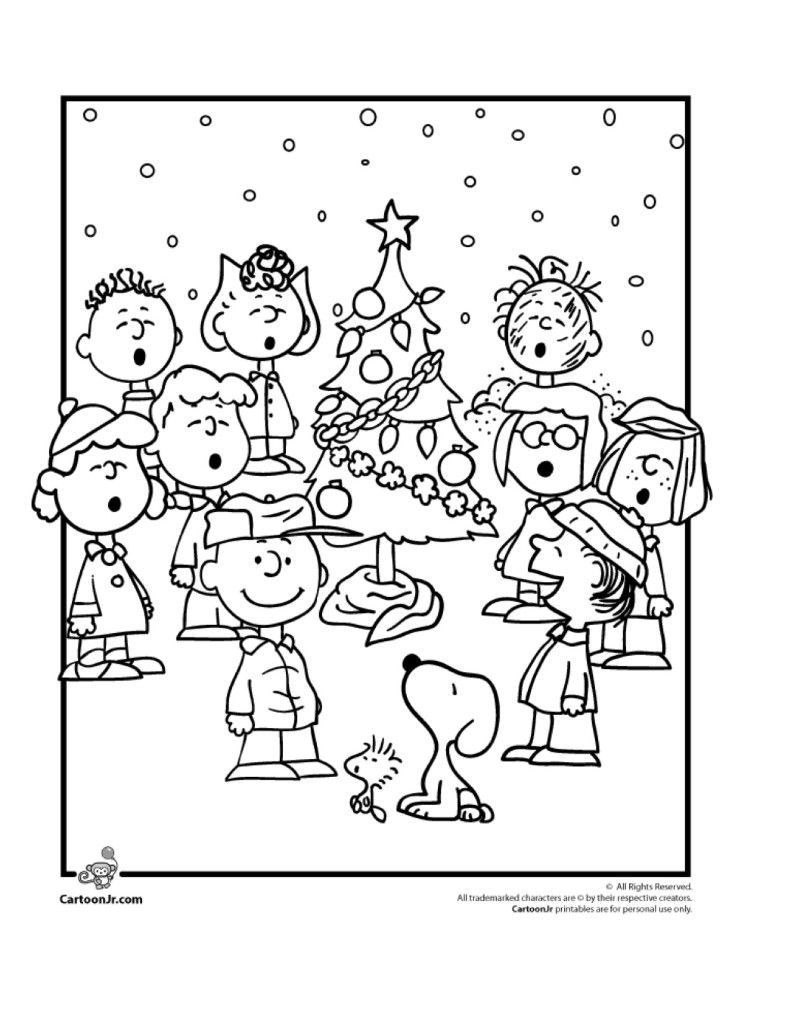 Christmas Coloring Pages Peanuts With 9 Wonderful Winter Kids Artsy Pinterest