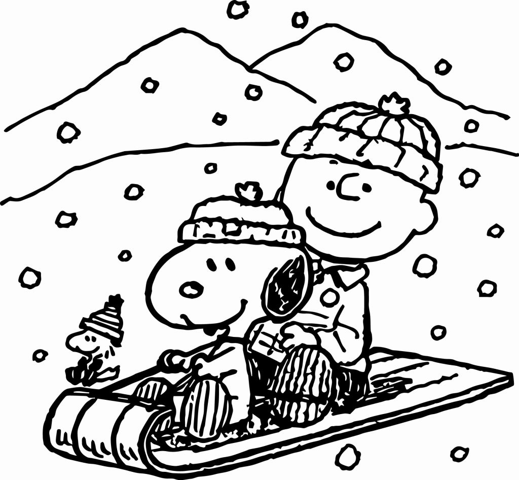 Christmas Coloring Pages Peanuts With Beautiful Snoopy Winter Page 2230