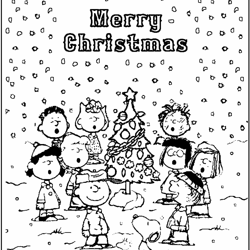 Christmas Coloring Pages Peanuts With Charlie Brown Bing Images LOVE CHARLIE