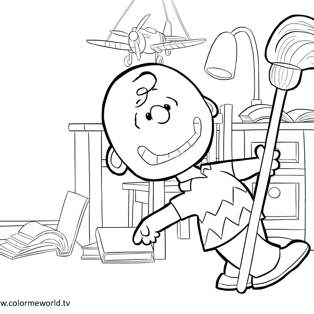 Christmas Coloring Pages Peanuts With Charlie Brown Page And Characters
