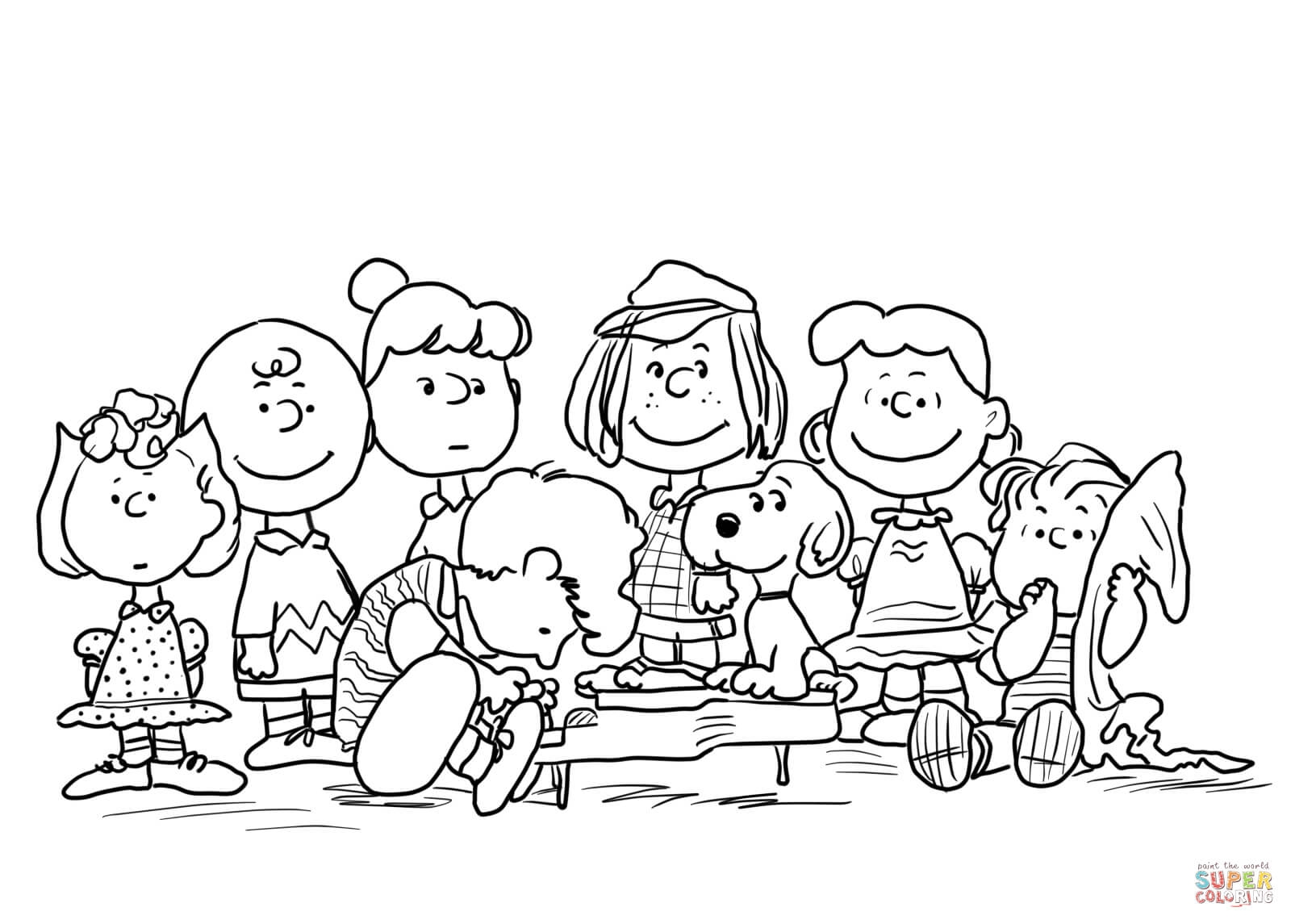 Christmas Coloring Pages Peanuts With Free