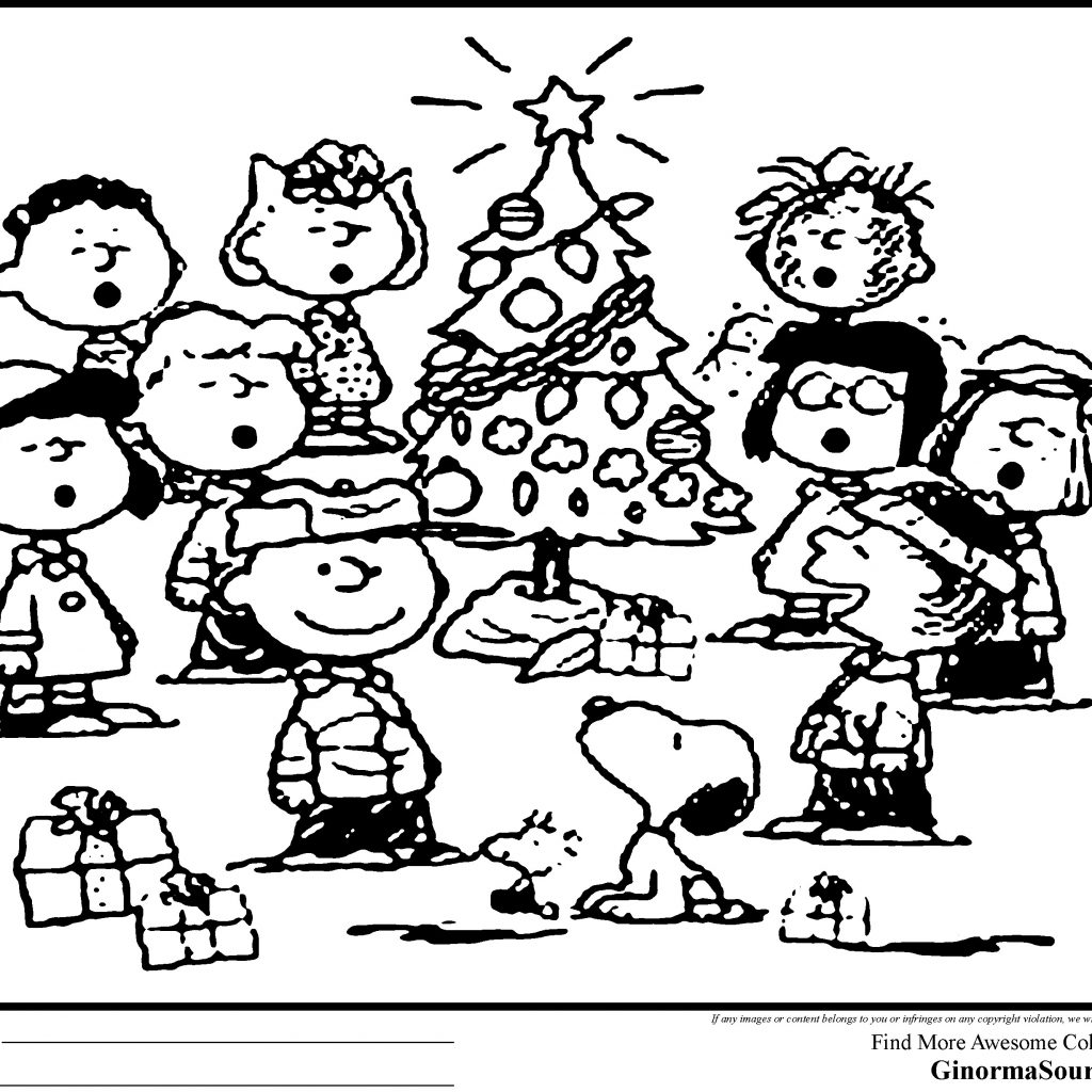Christmas Coloring Pages Peanuts With Snoopy Download Free Books