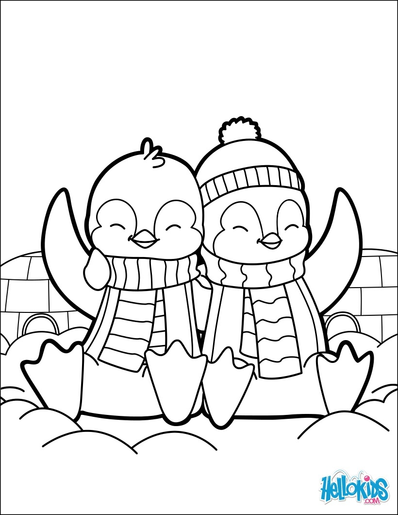 Christmas Coloring Pages Penguins With Best Of Fantastic Club Penguin Ideas