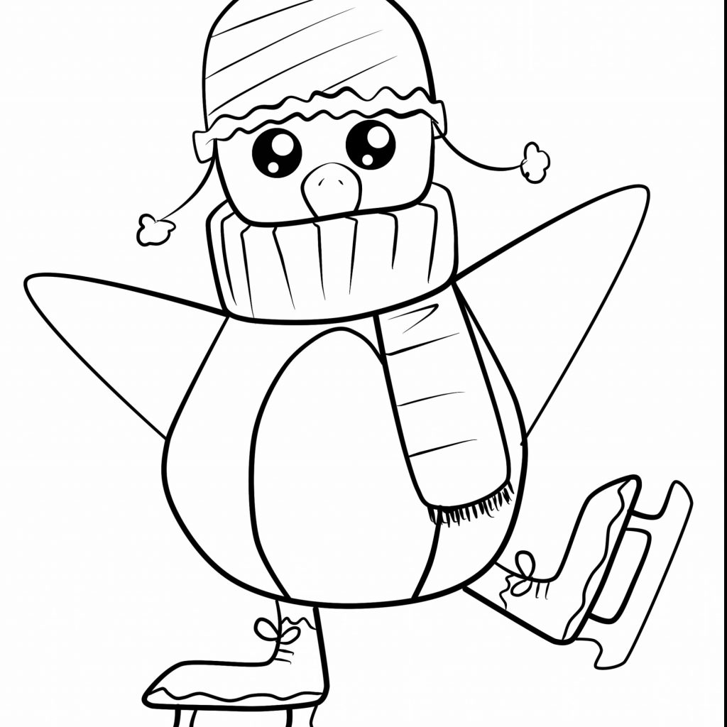 Christmas Coloring Pages Penguins With Penguin Co