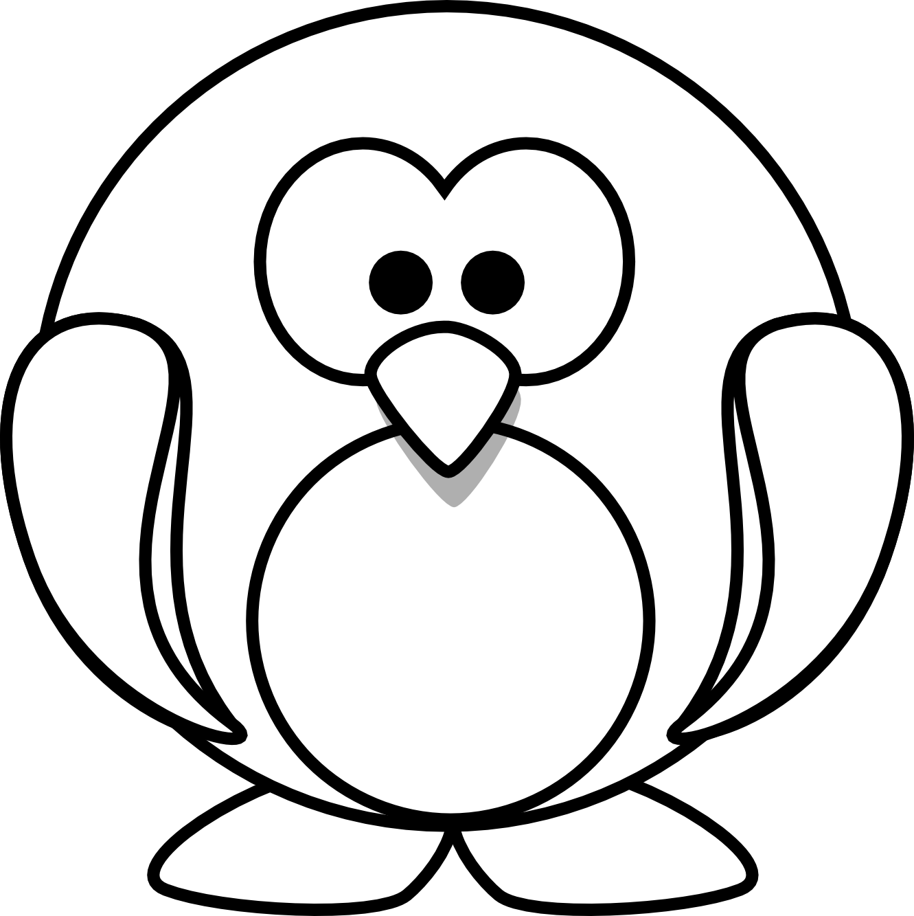 Christmas Coloring Pages Penguins With Penguin Drawing At GetDrawings Com Free For Personal Use