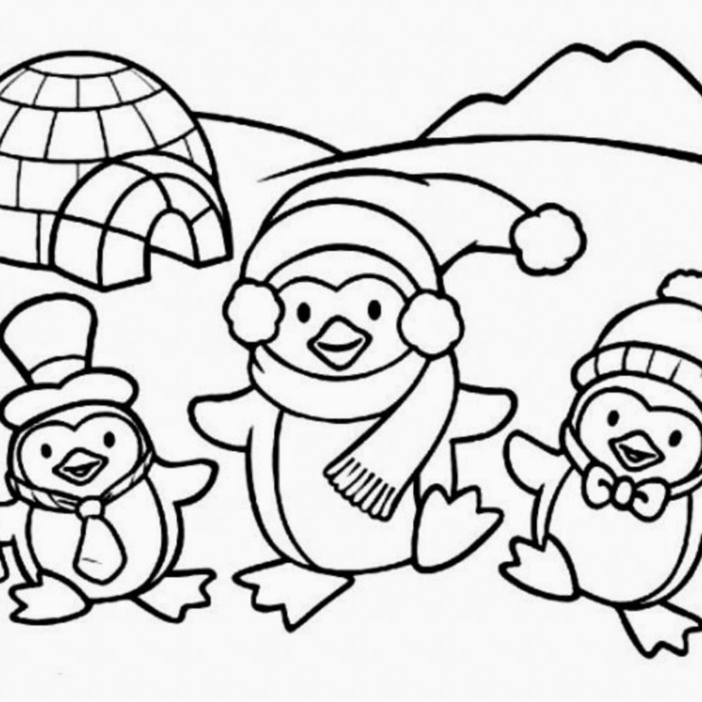 Christmas Coloring Pages Penguins With Penguin Sketchy Vector 10041325 7 Idig Me
