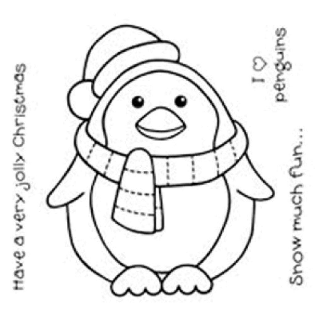 Christmas Coloring Pages Penguins With Pin By Lynda Comerford On Card Making Pinterest