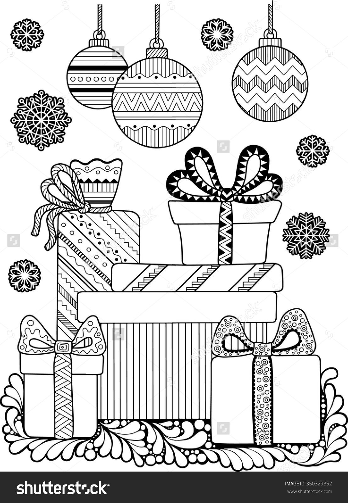 Christmas Coloring Pages Pinterest With Page 350329352 Shutterstock