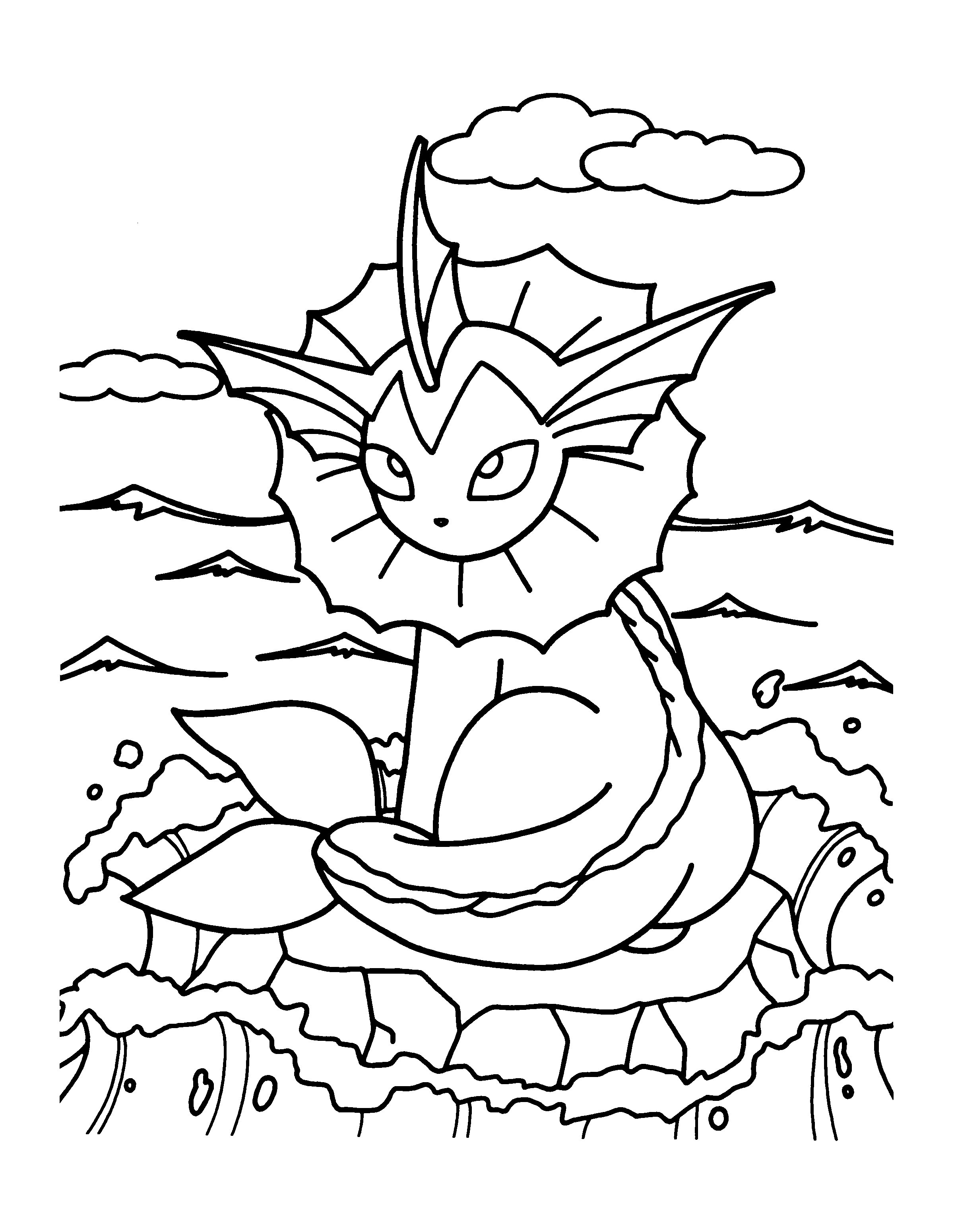 Christmas Coloring Pages Pokemon With Best Within