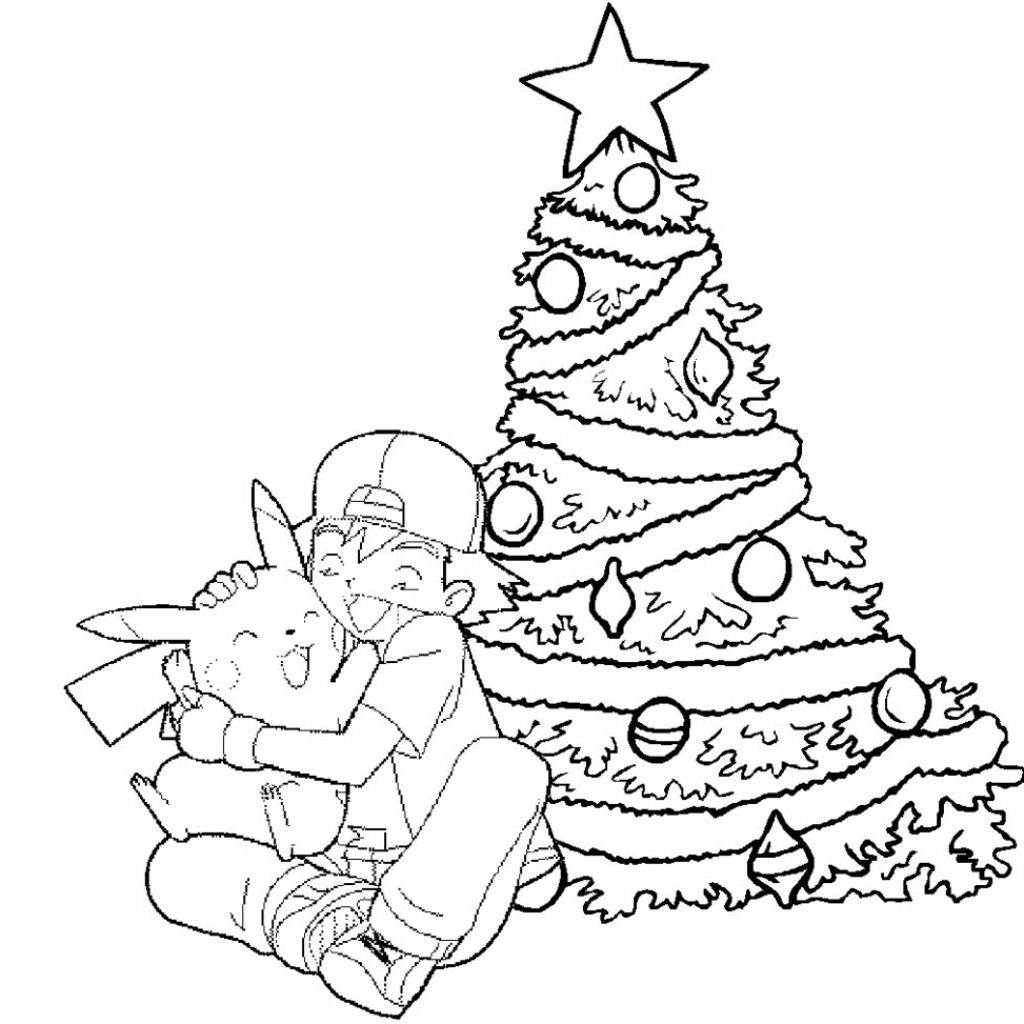 Christmas Coloring Pages Pokemon With Festival Collections