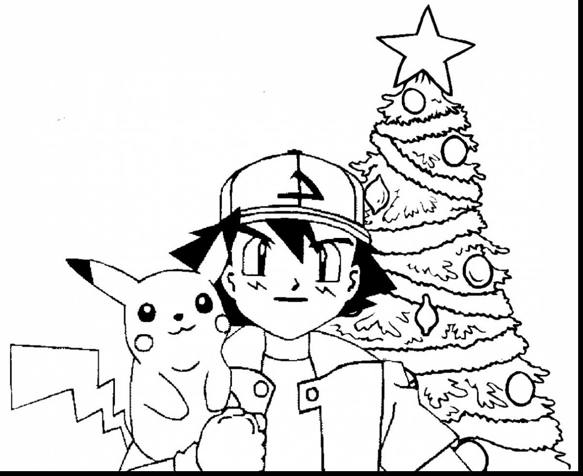 Christmas Coloring Pages Pokemon With Monster Pictures To Color Colouring Cookie Page Free