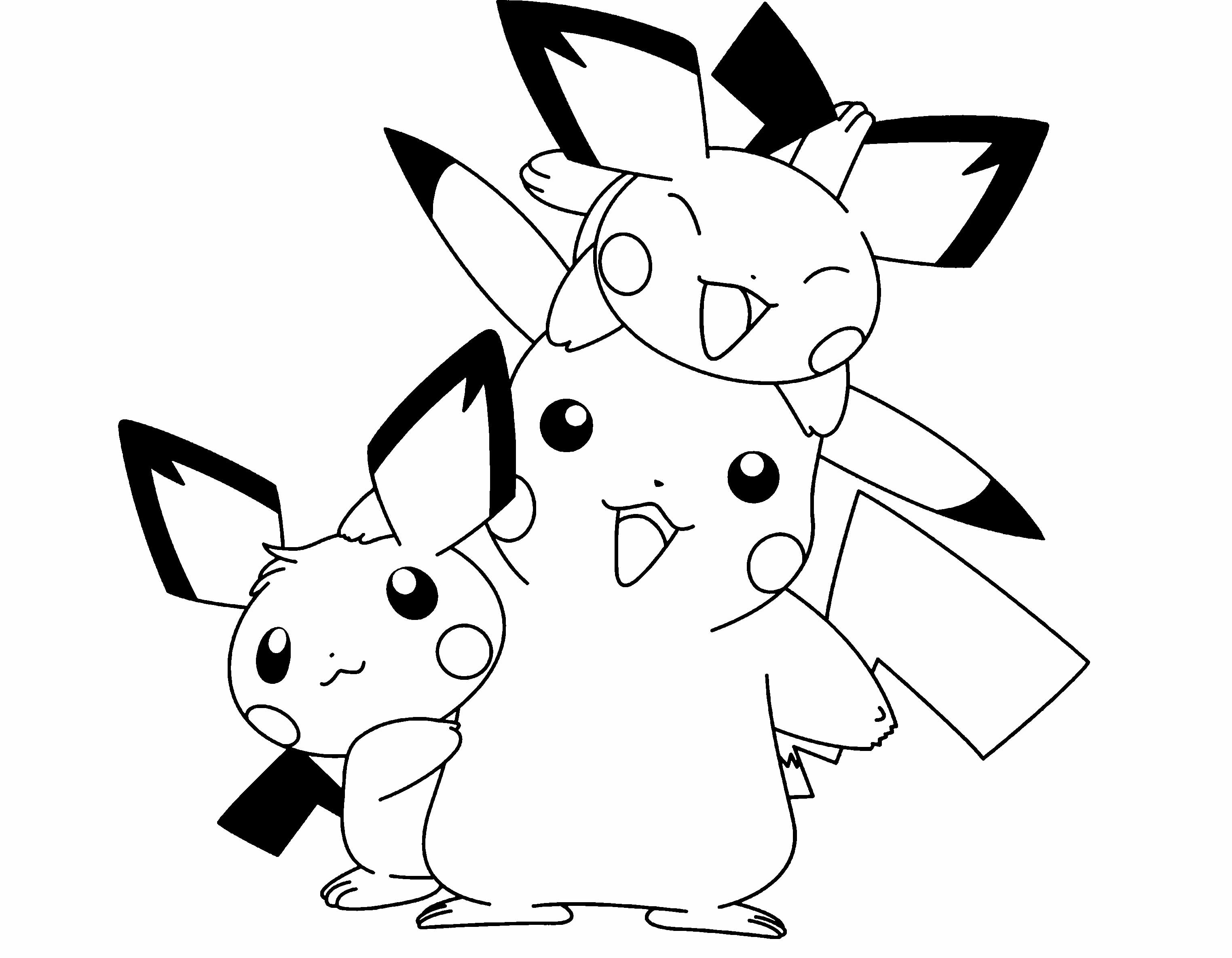 Christmas Coloring Pages Pokemon With Pikachu 2570588