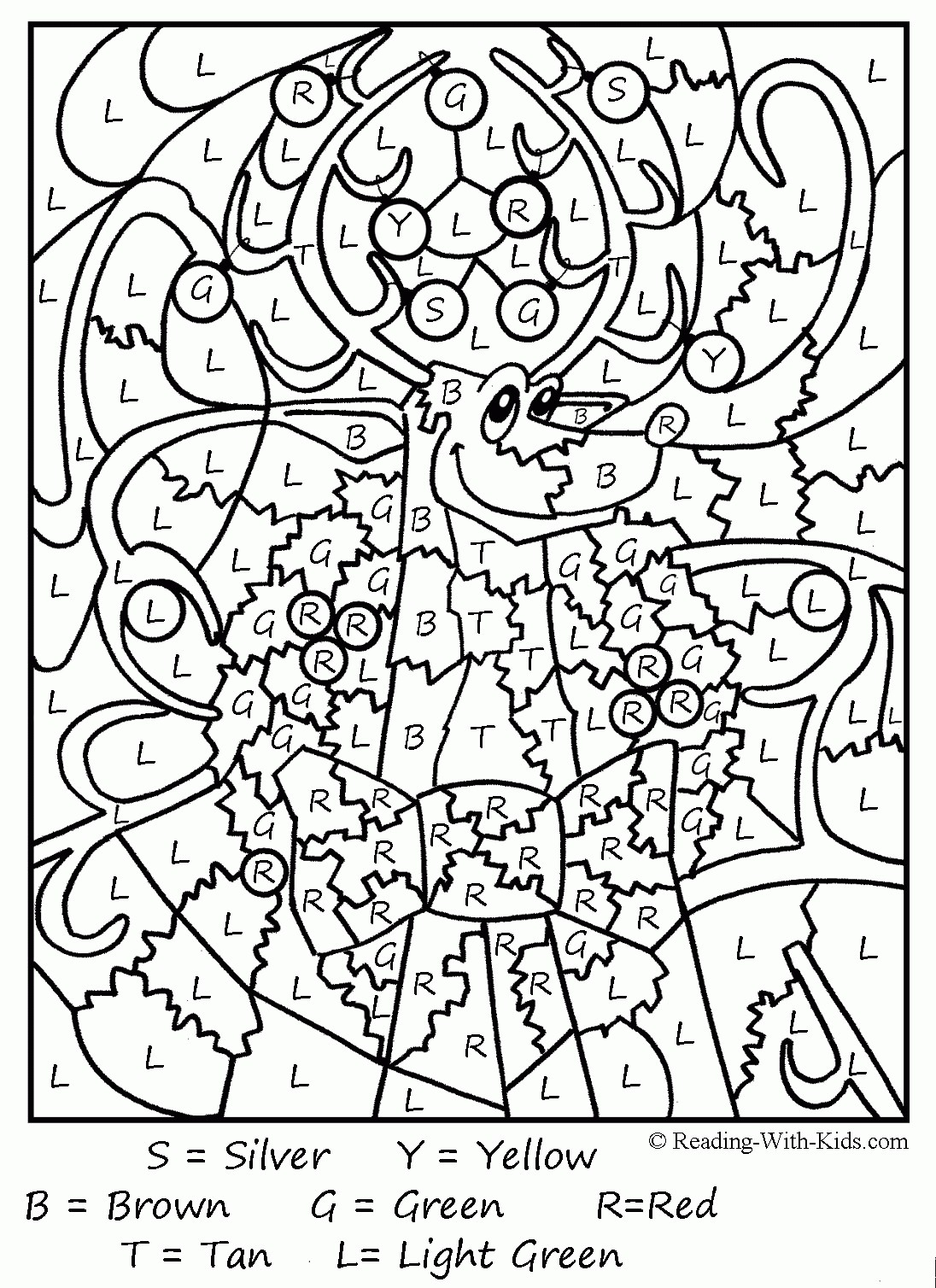 Christmas Coloring Pages Pre K With Kindergarten For Middle School Students