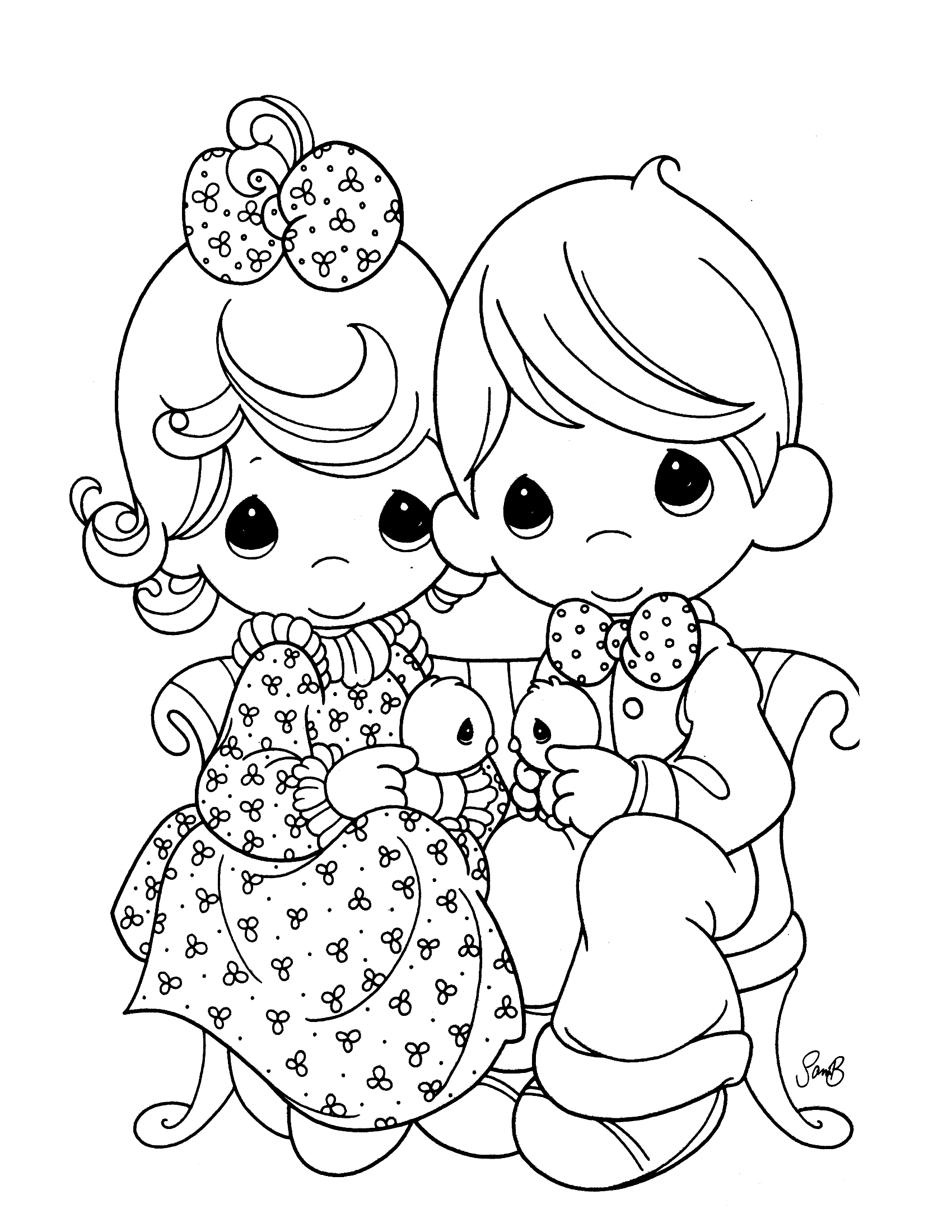 Christmas Coloring Pages Precious Moments With Collection Free