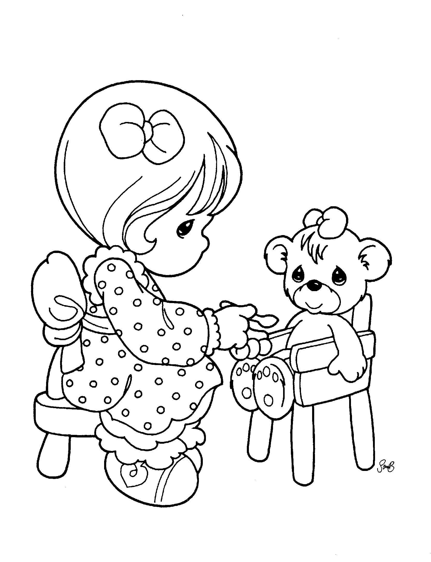 Christmas Coloring Pages Precious Moments With Collection Of Free