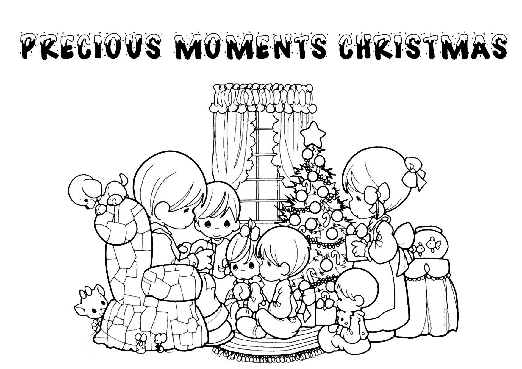 Christmas Coloring Pages Precious Moments With Printable