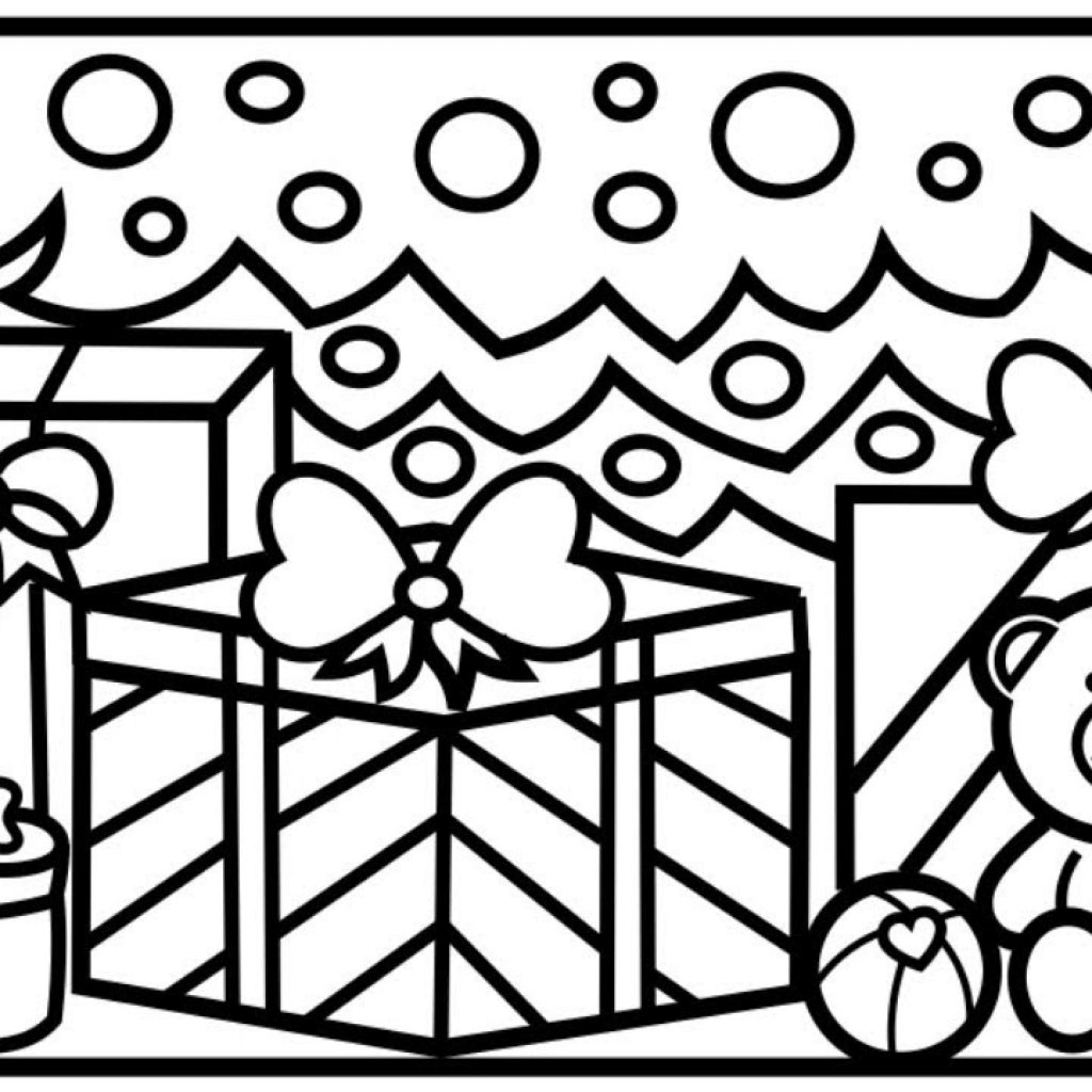 Christmas Coloring Pages Presents With CHRISTMAS COLORING How To Draw Gifts Toys Under The Tree