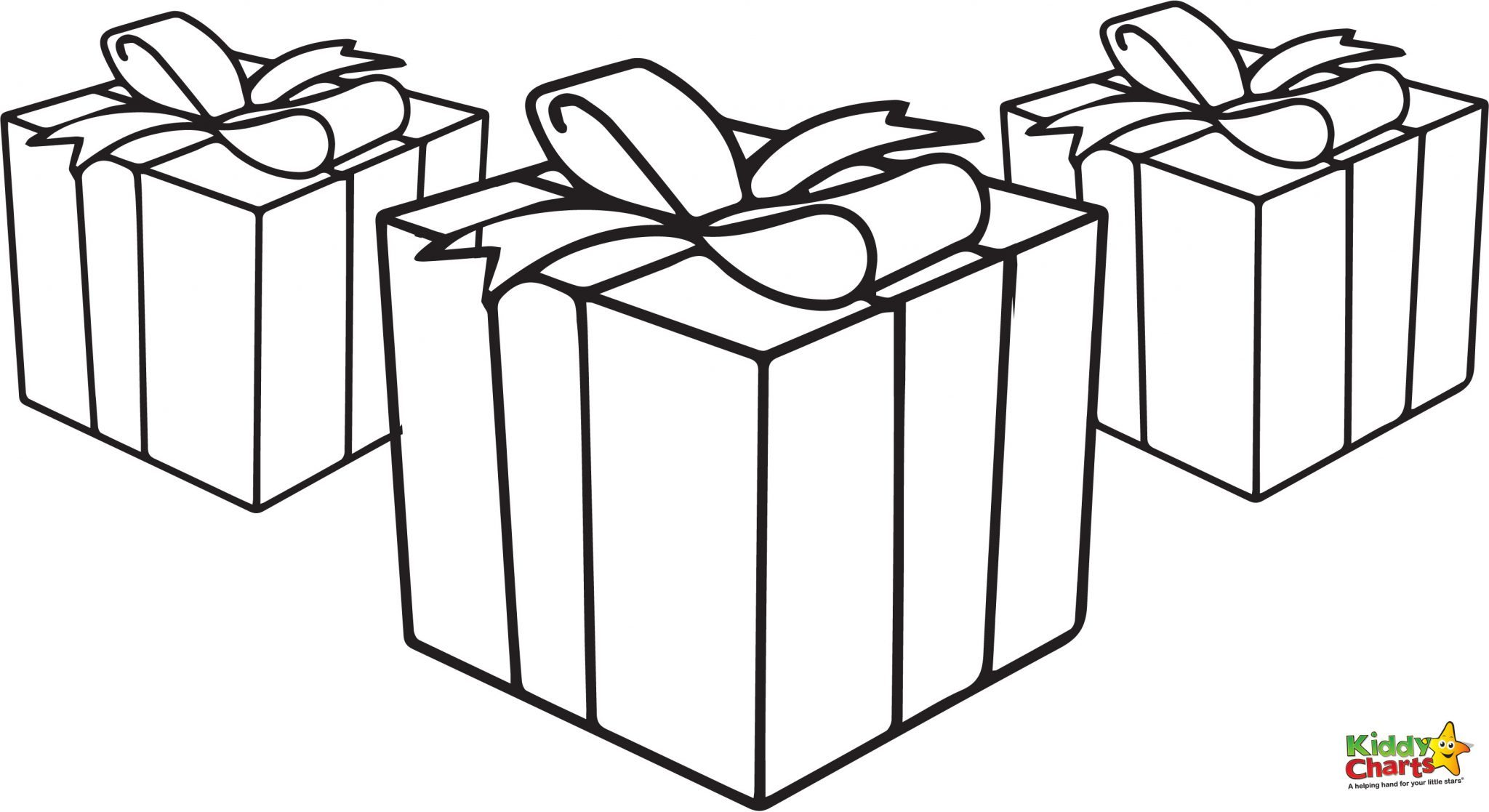 Christmas Coloring Pages Presents With Free