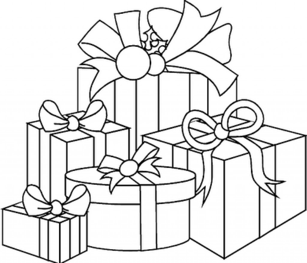 Christmas Coloring Pages Presents With Present Kids Within Ahmedmagdy Me Page