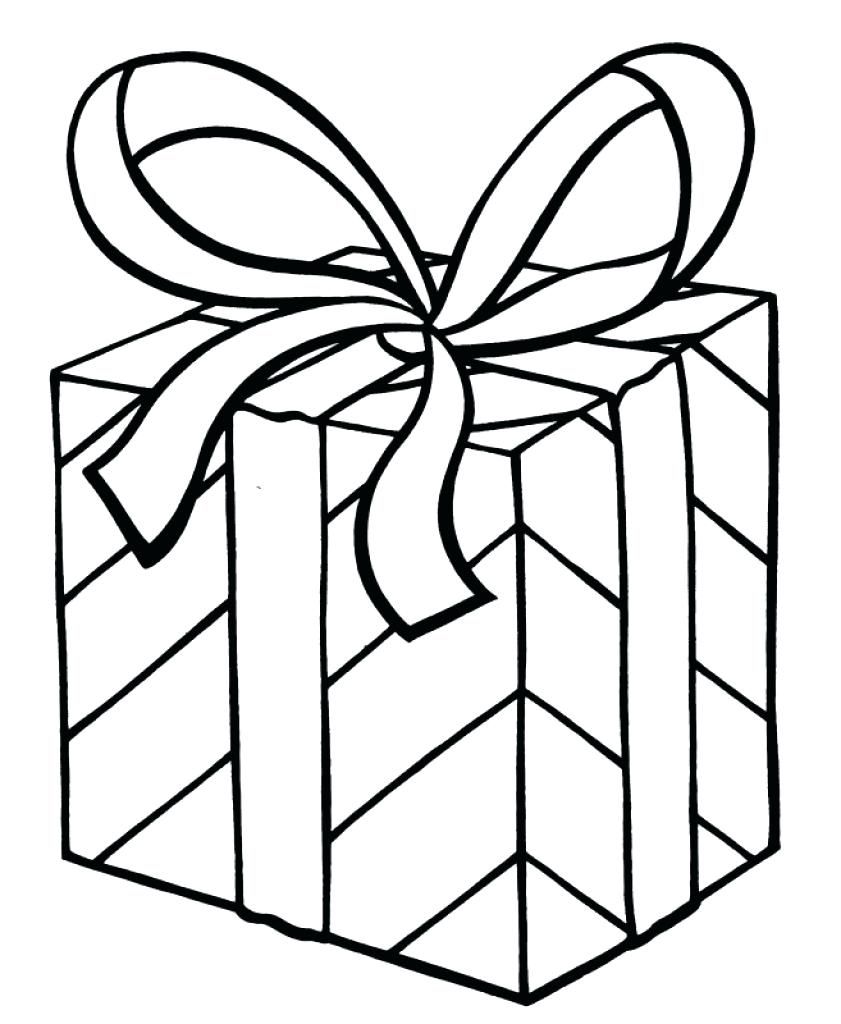 Christmas Coloring Pages Presents With Present Print Amazing 90