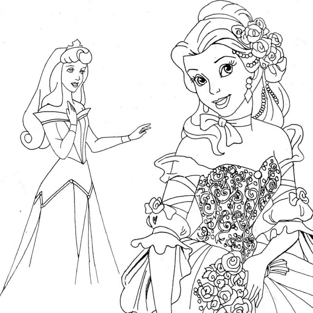 Christmas Coloring Pages Princess With Fresh Disney Collection