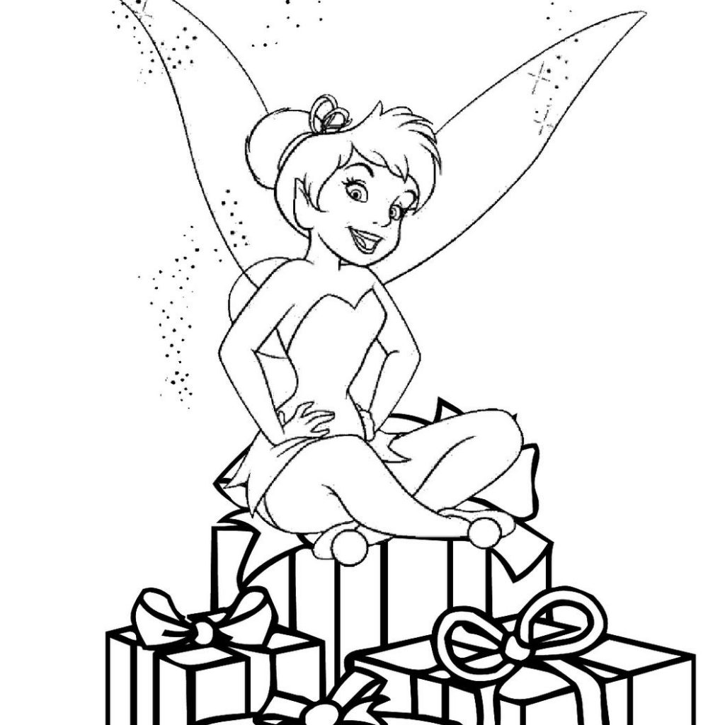 Christmas Coloring Pages Printable Disney With CHRISTMAS FAIRY COLORING PICTURE