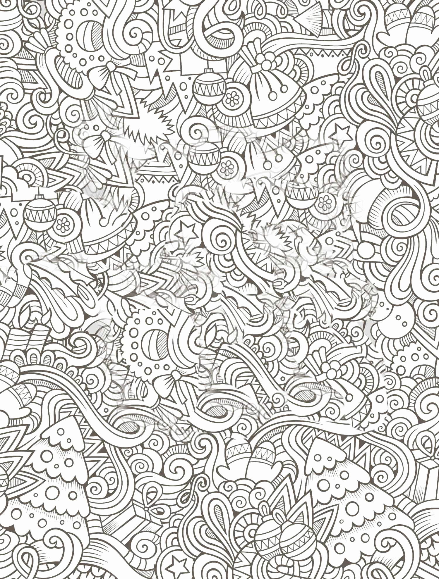 Christmas Coloring Pages Printable For Adults With Awesome Free