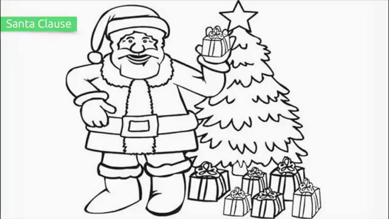 Christmas Coloring Pages Printable Santa With Top 25 Free YouTube