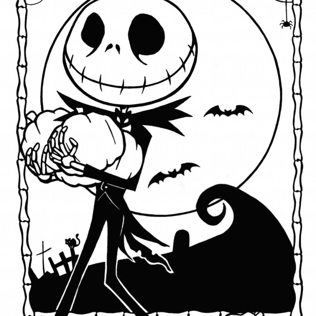 Christmas Coloring Pages Printable With Free Nightmare Before Jack And