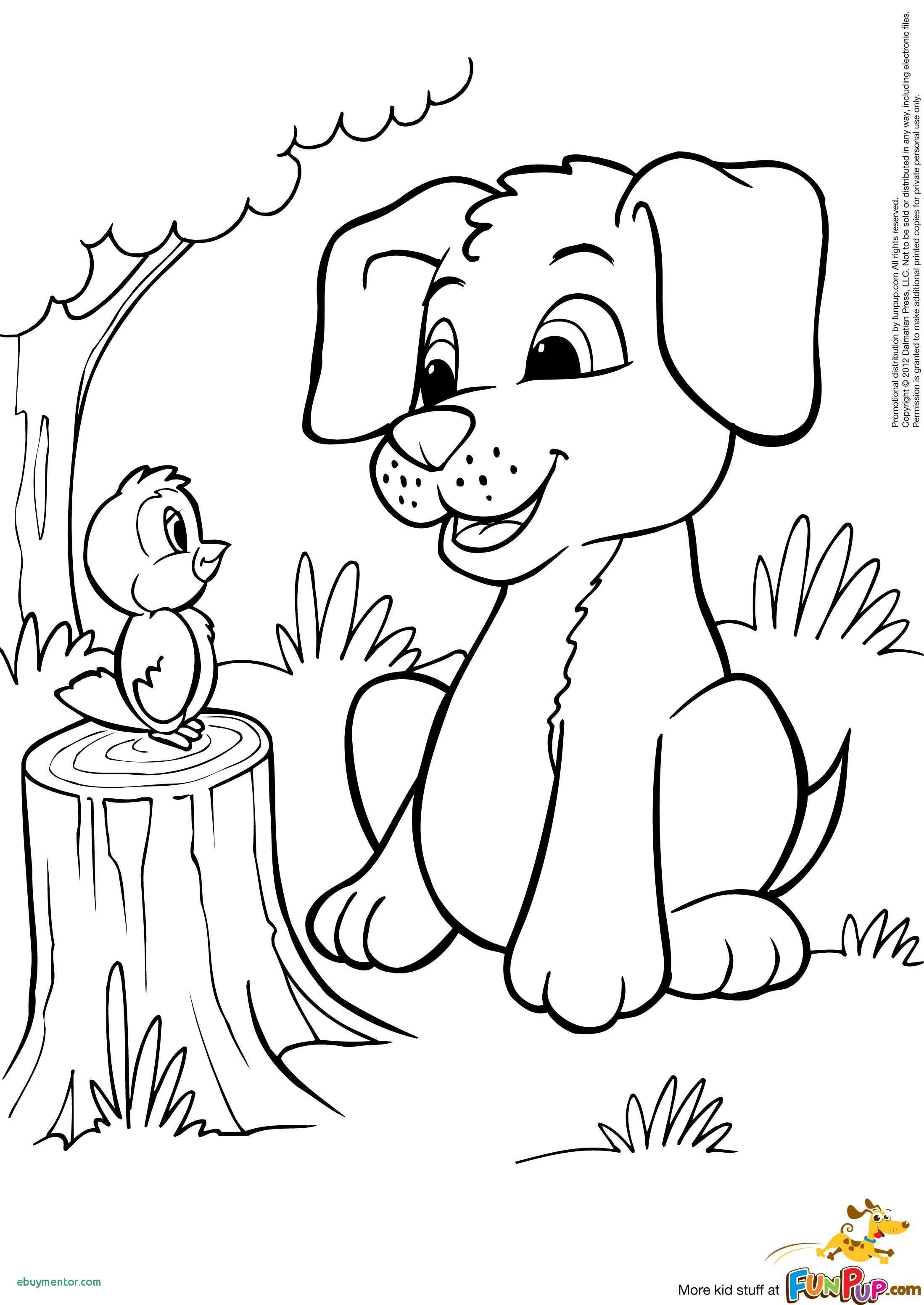 Christmas Coloring Pages Puppy With And Kitten Drawing At Getdrawings