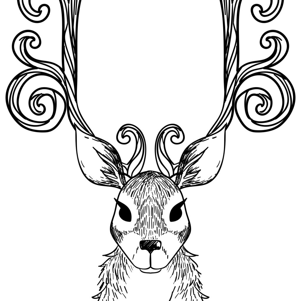 christmas-coloring-pages-reindeer-with-sheets-free