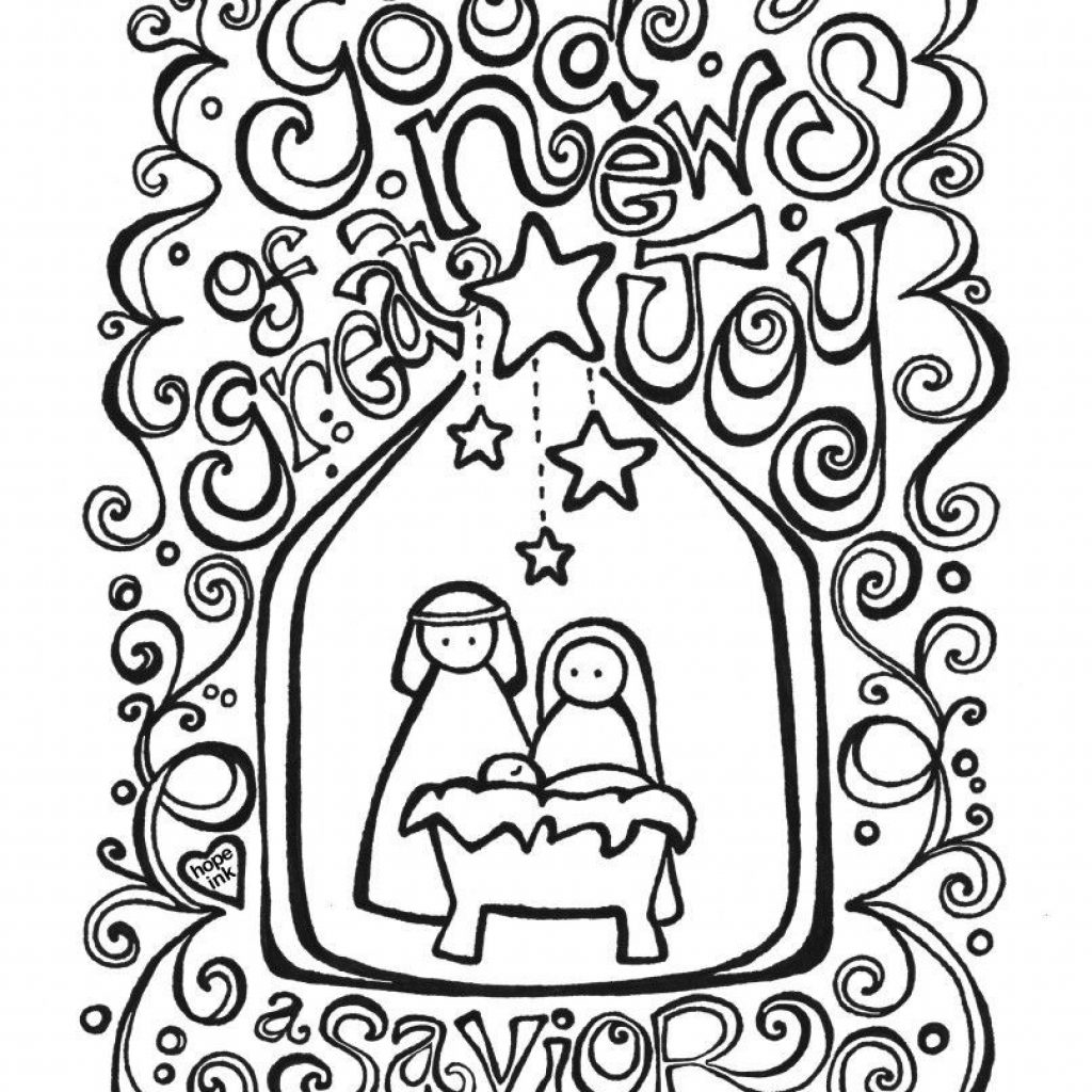 Christmas Coloring Pages Religious Printable With For Adults