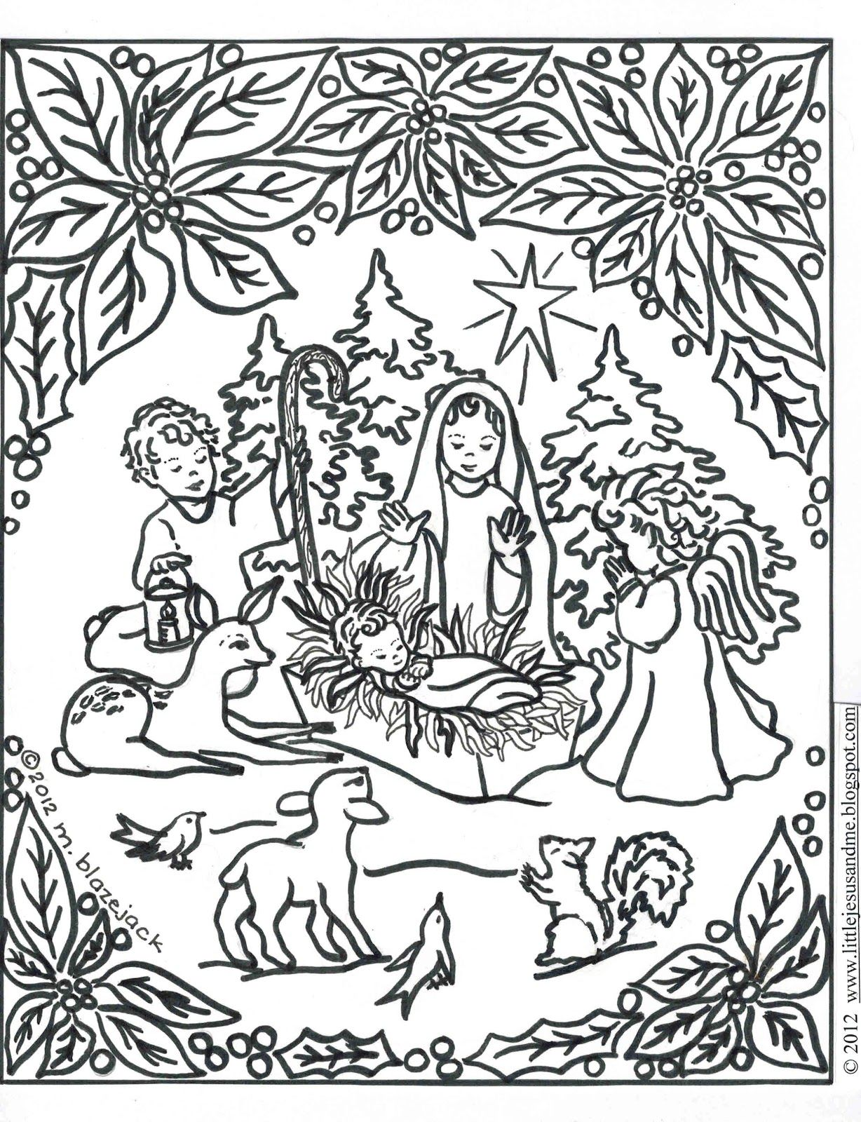 Christmas Coloring Pages Religious Printable With Pin By Nativity On Pinterest