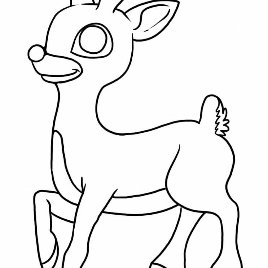 Christmas Coloring Pages Rudolph Red Nosed Reindeer With The