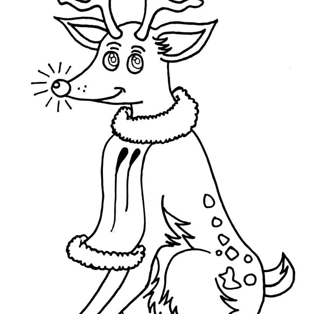 Christmas Coloring Pages Rudolph Red Nosed Reindeer With The Hellokids Com