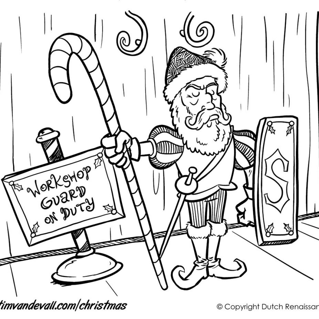 Christmas Coloring Pages Santa S Workshop With Page 04 5 Wordsare Me