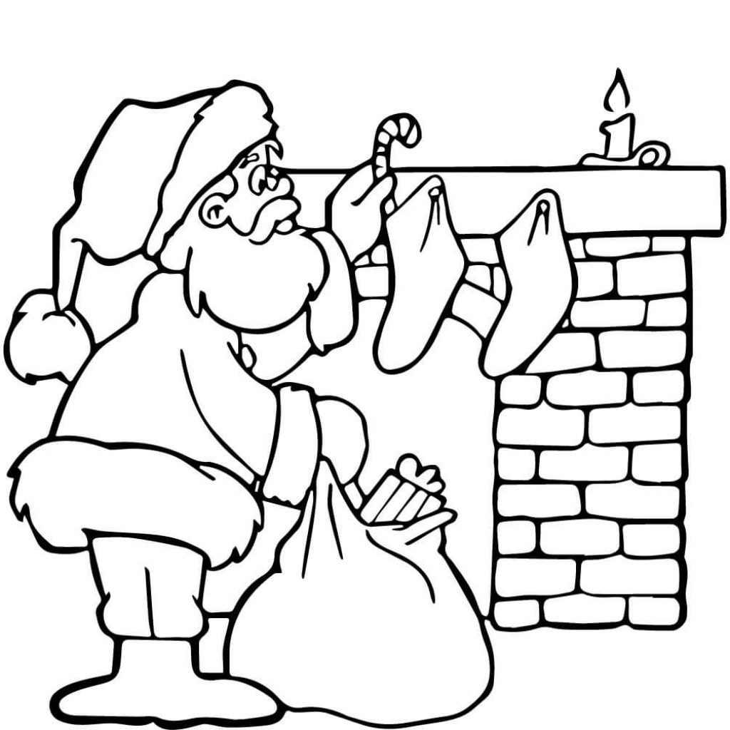 Christmas Coloring Pages Santa S Workshop With Page Free Printable