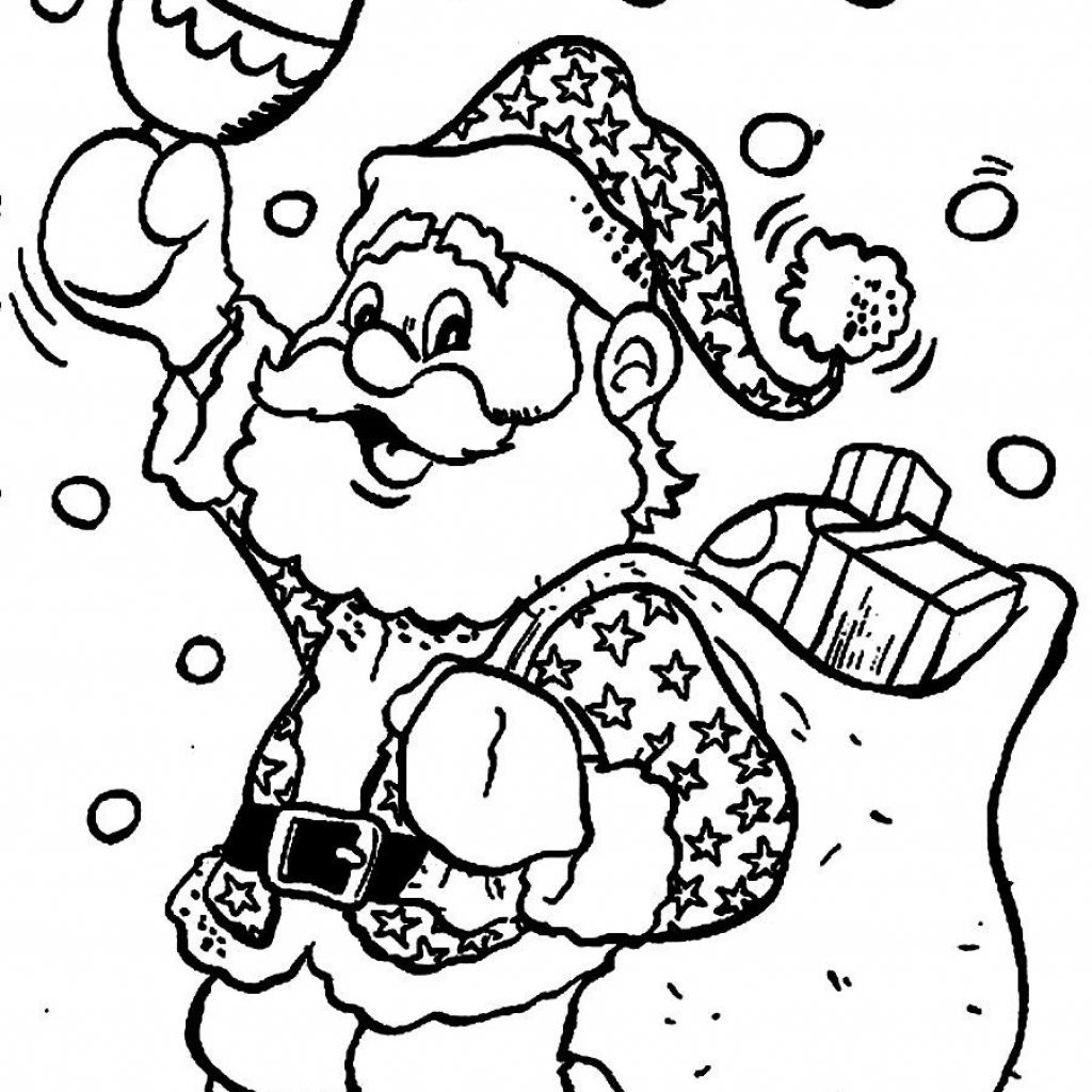 Christmas Coloring Pages Santa With Claus For Kids