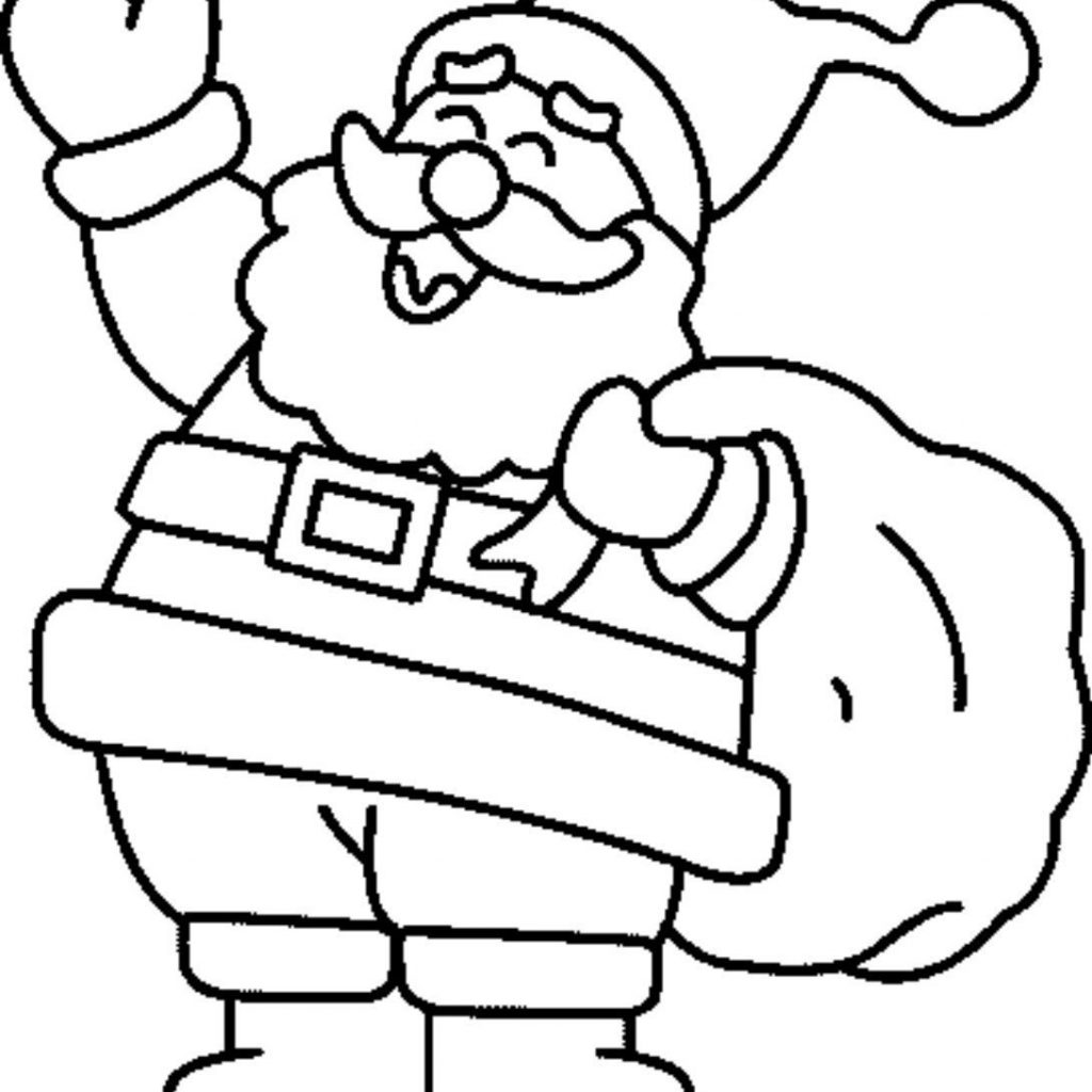 Christmas Coloring Pages Santa With Pinterest