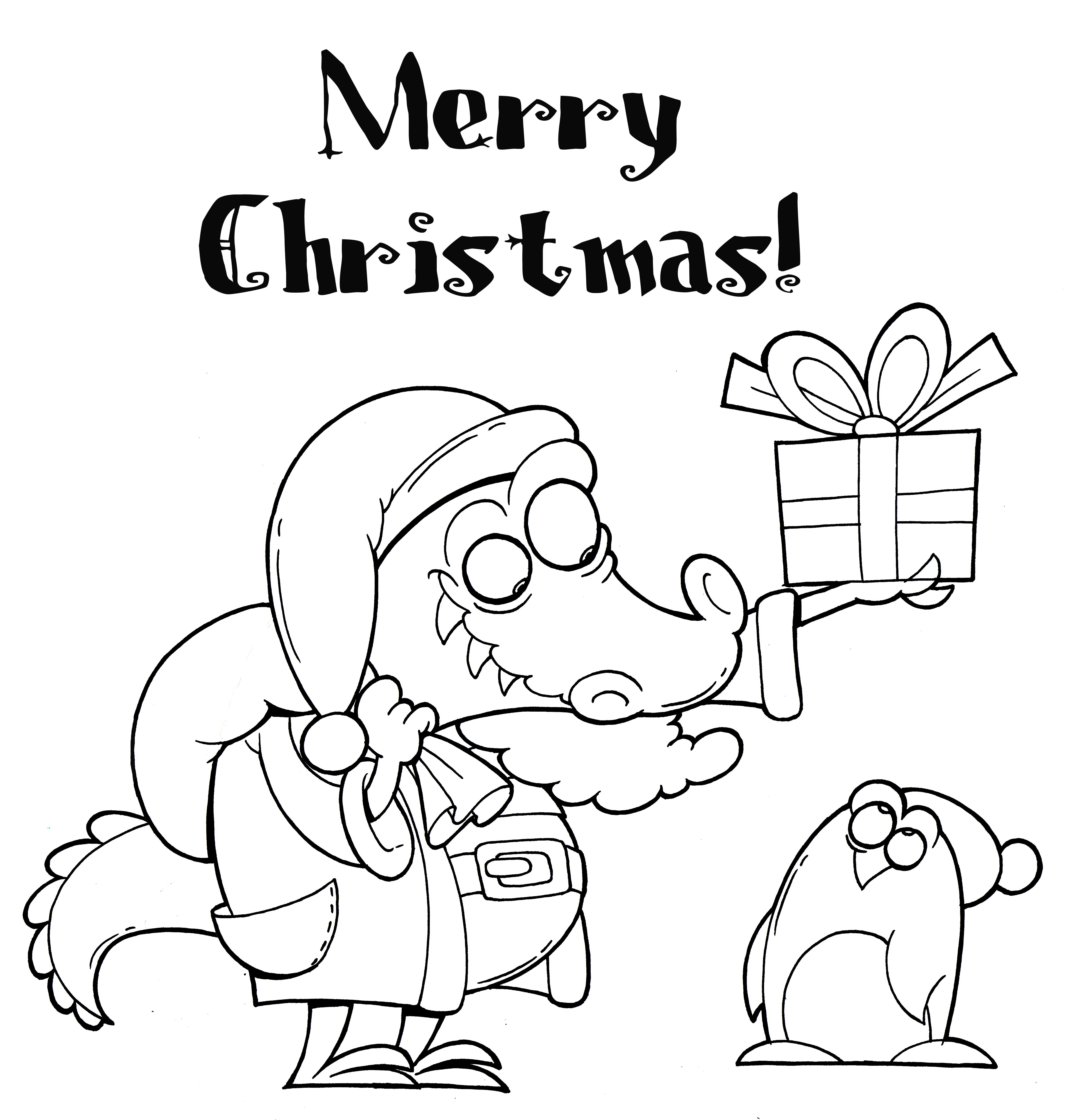 Christmas Coloring Pages Santa With