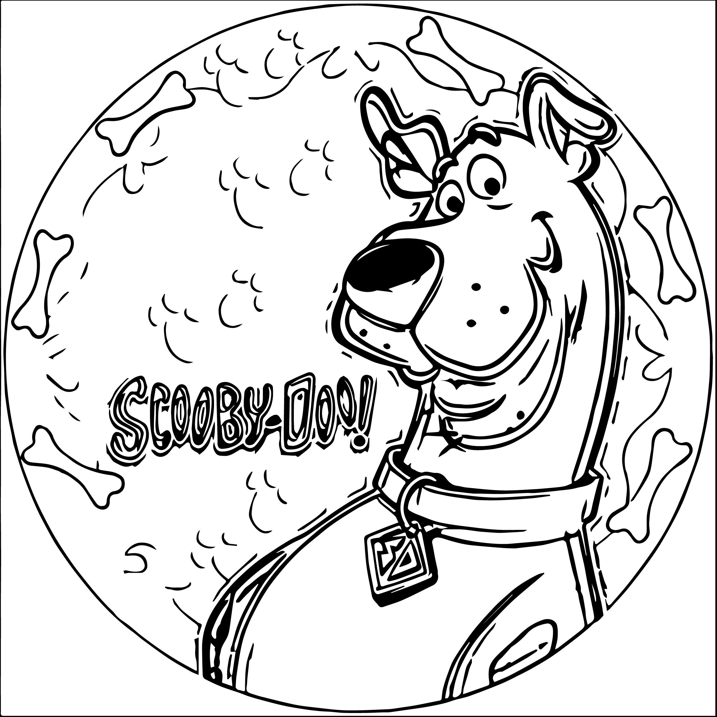 Christmas Coloring Pages Scooby Doo With Pinterest