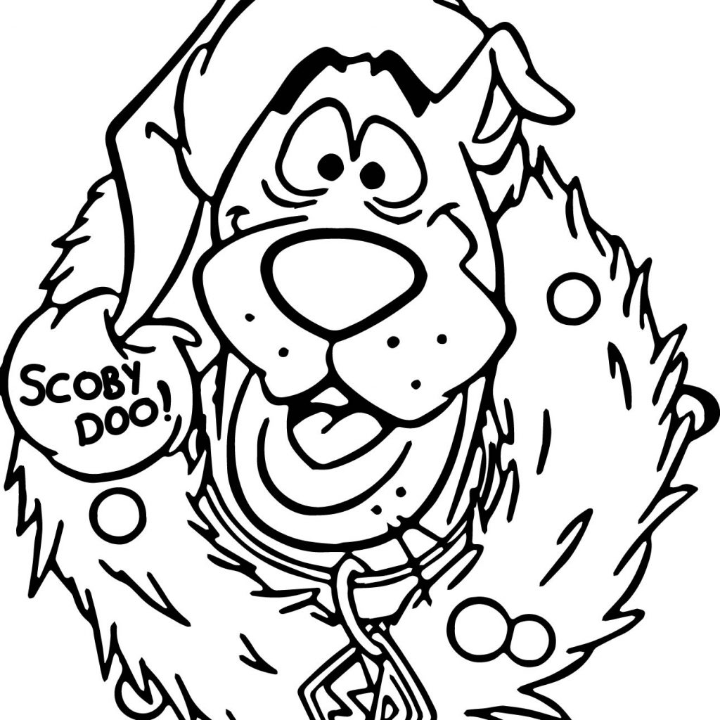Christmas Coloring Pages Scooby Doo With Printable Download