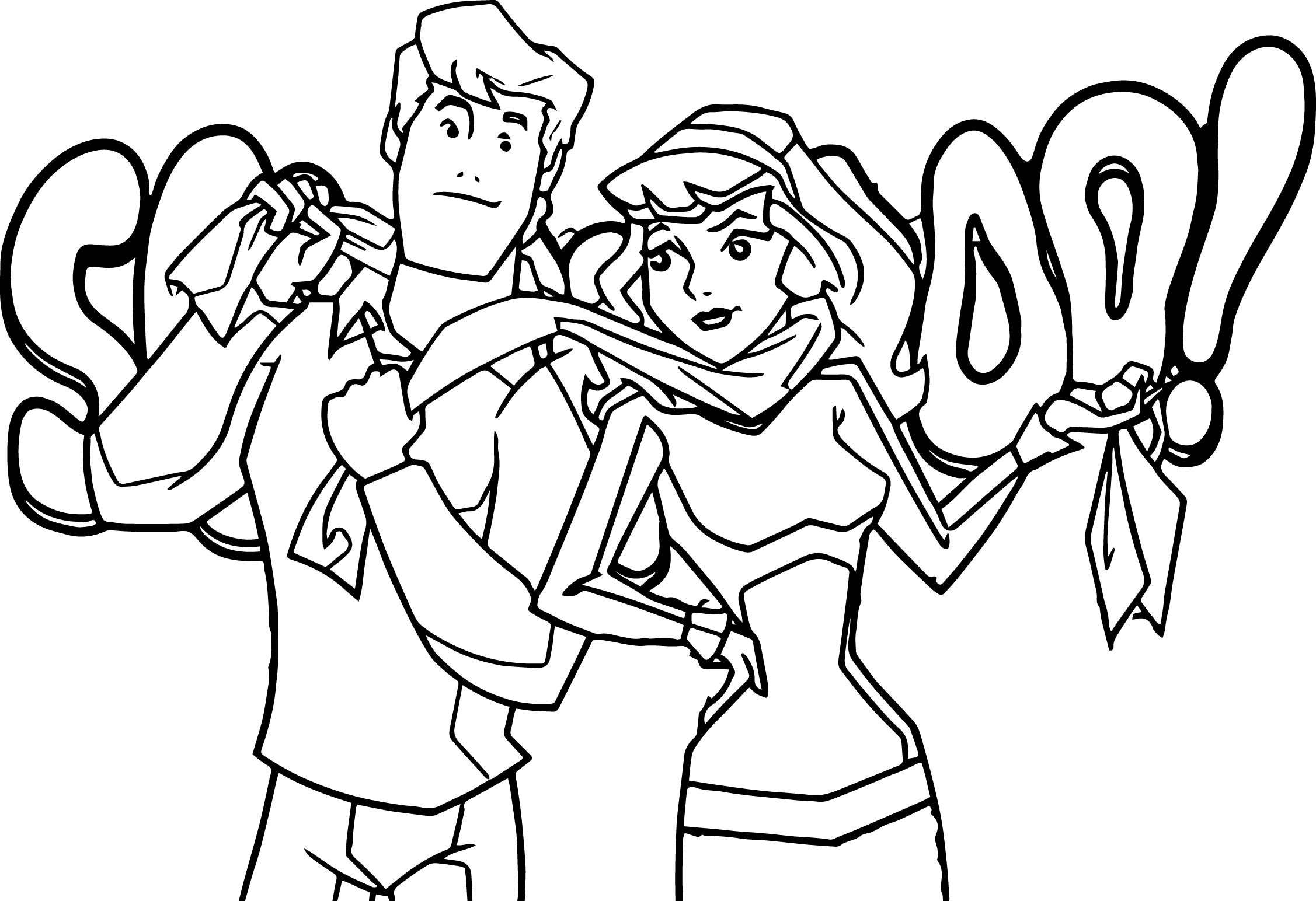 Christmas Coloring Pages Scooby Doo With Printable Free