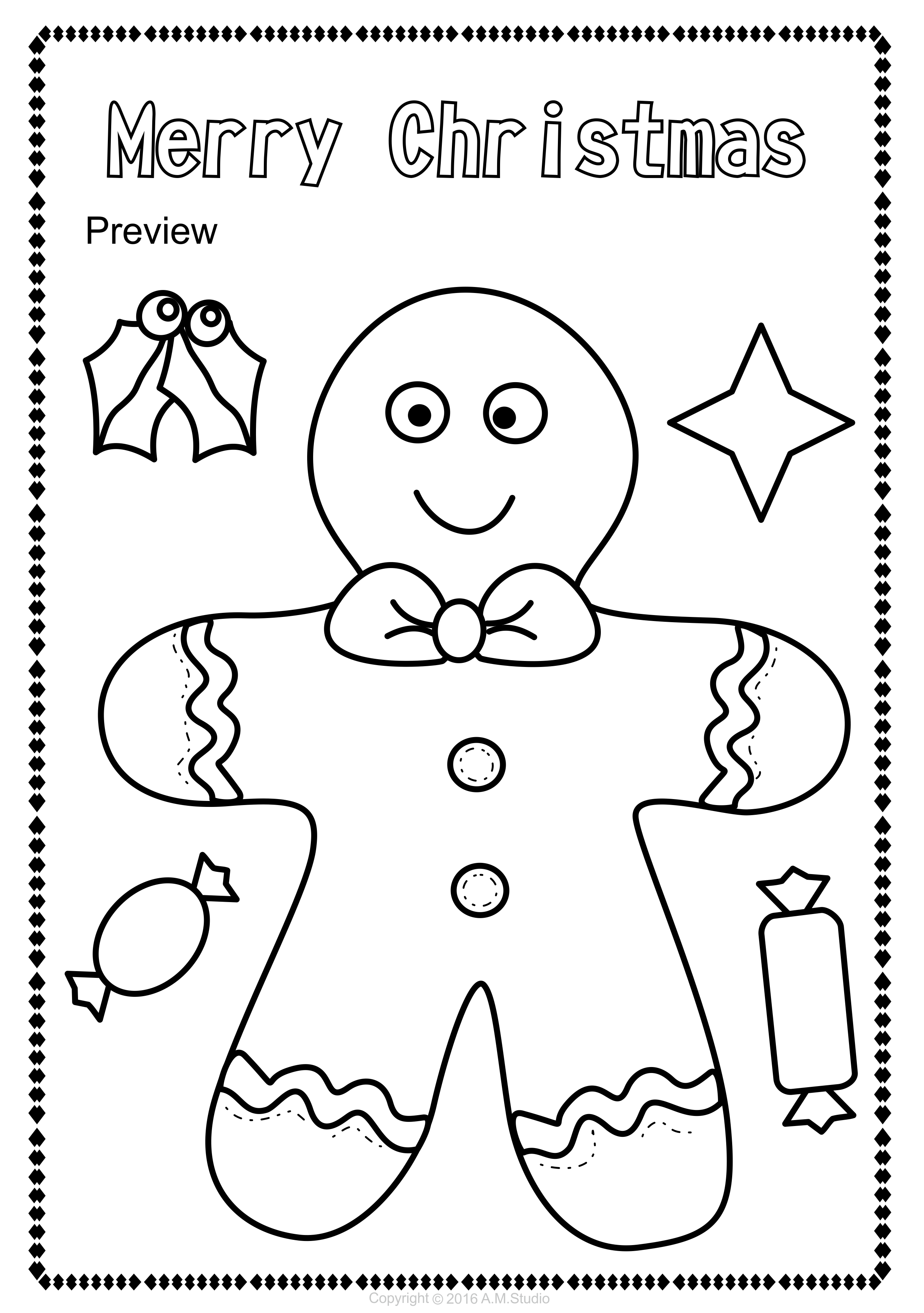 Christmas Coloring Pages Set With My New Includes 14 Different