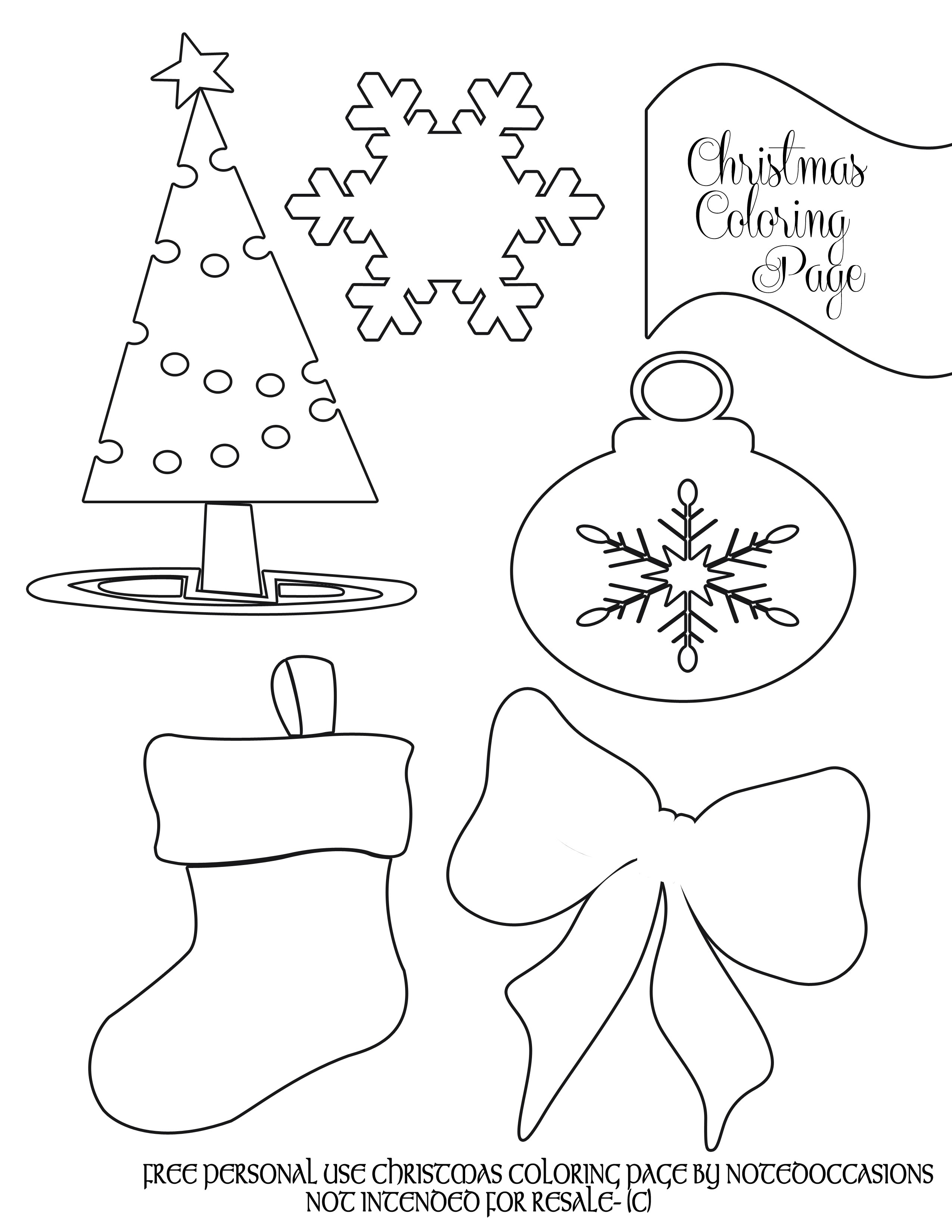 Christmas Coloring Pages Set With Party Simplicity Free To Print